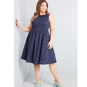 Nwot ModCloth fortuitous timing a line dress pinup